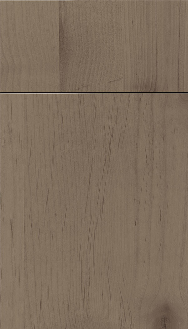 Lockhart Alder slab cabinet door in Winter