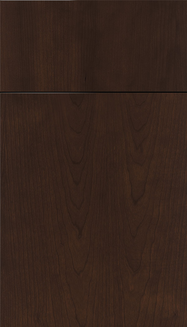Lockhart Cherry slab cabinet door in Cappuccino