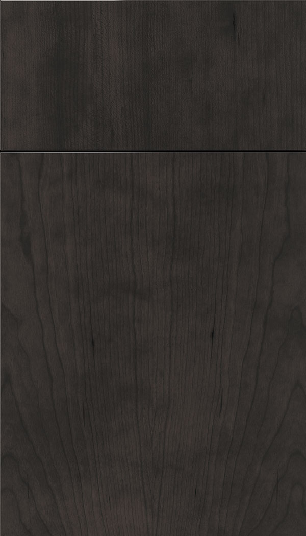 Lockhart Cherry slab cabinet door in Charcoal