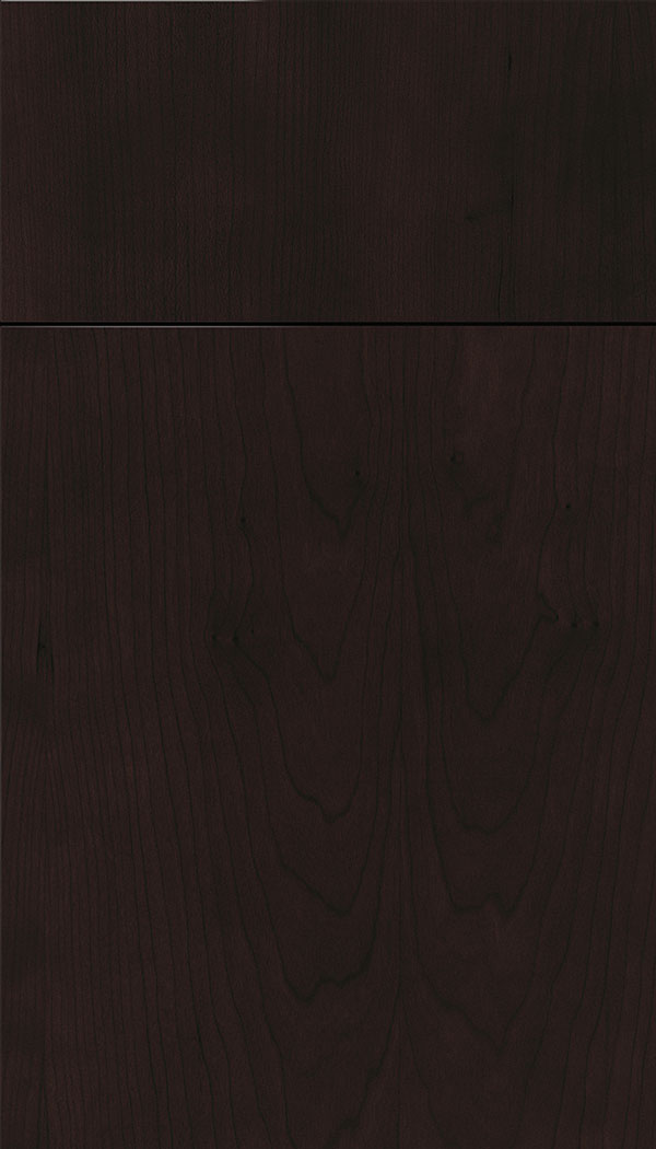 Lockhart Cherry slab cabinet door in Espresso
