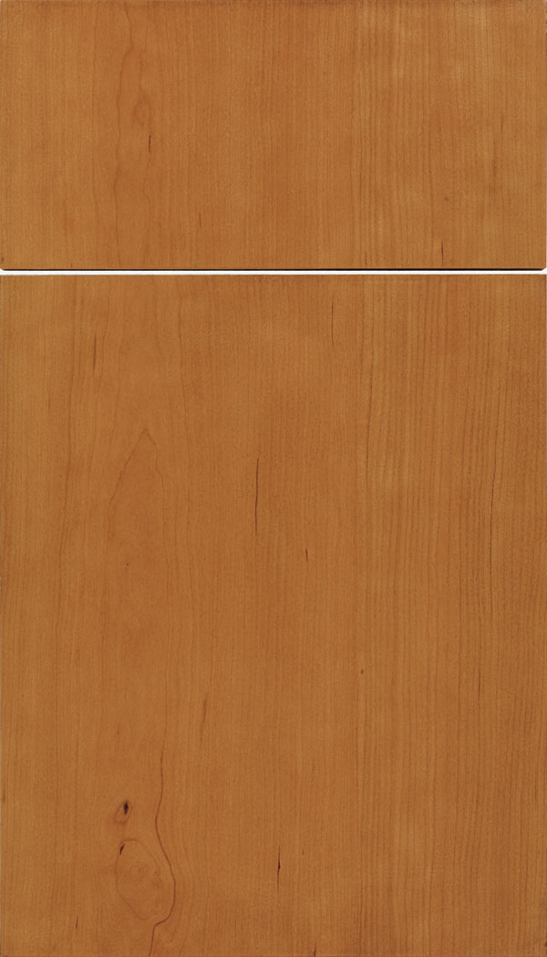 Lockhart Cherry slab cabinet door in Ginger