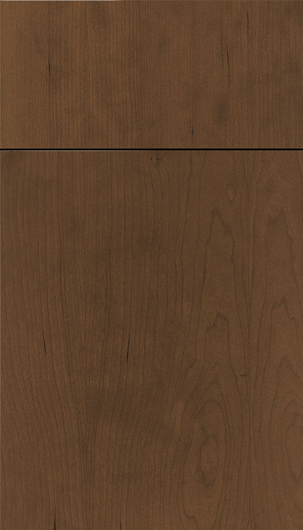 Lockhart Cherry slab cabinet door in Sienna