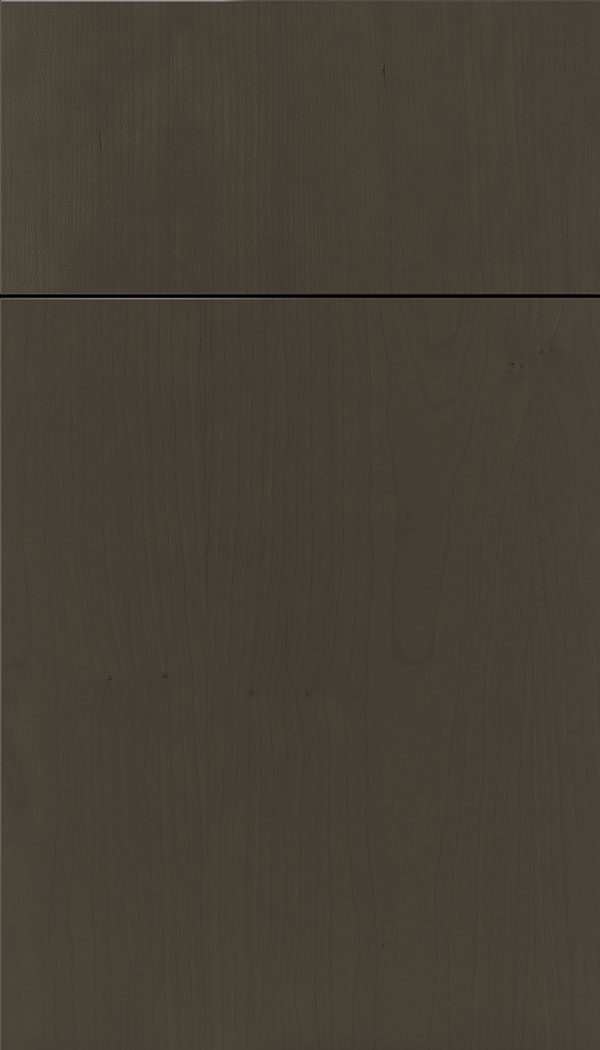 Lockhart Cherry slab cabinet door in Thunder