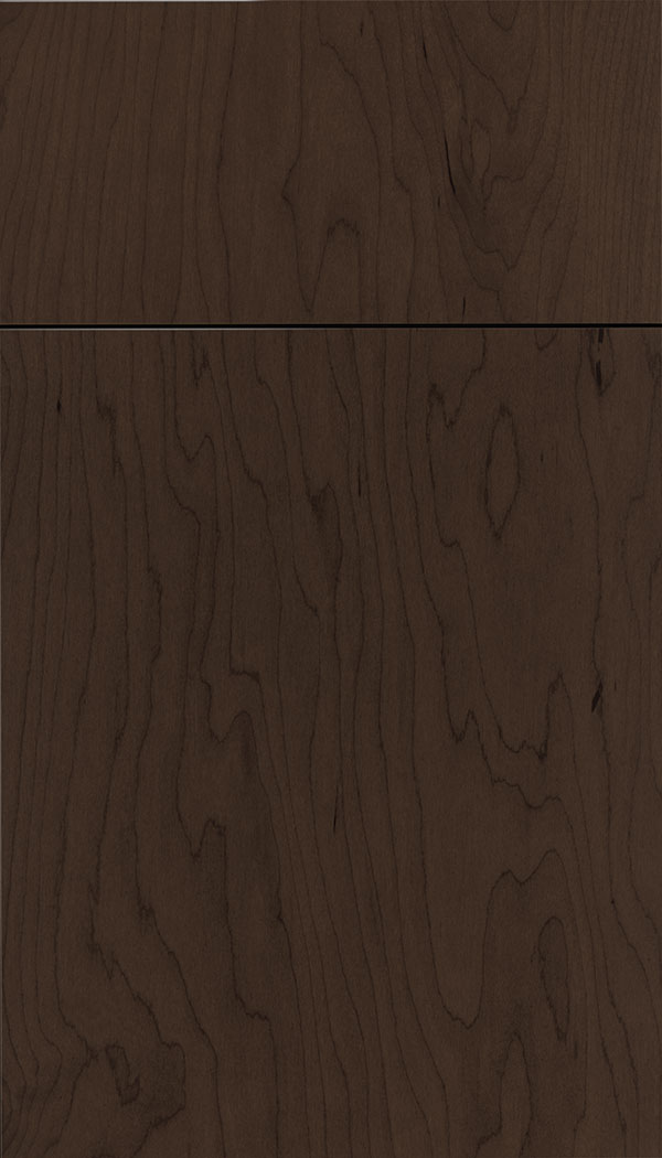 Lockhart Maple slab cabinet door in Cappuccino