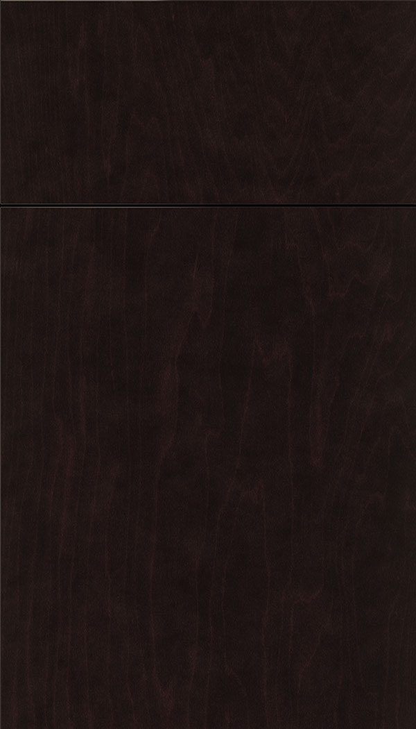 Lockhart Maple slab cabinet door in Espresso