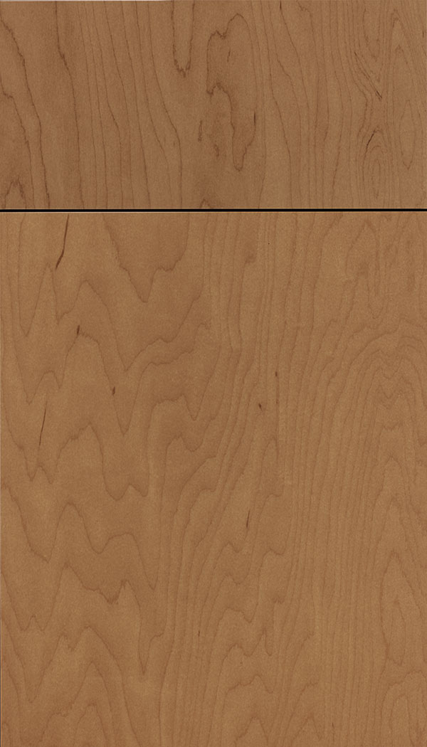 Lockhart Maple slab cabinet door in Nutmeg