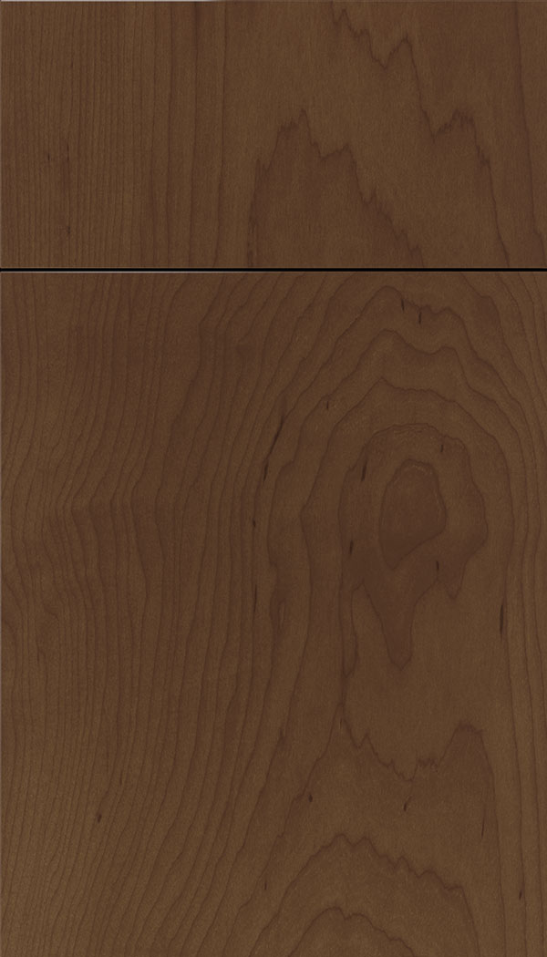 Lockhart Maple slab cabinet door in Sienna