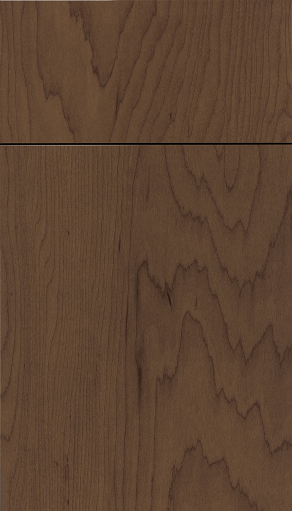 Lockhart Maple slab cabinet door in Toffee