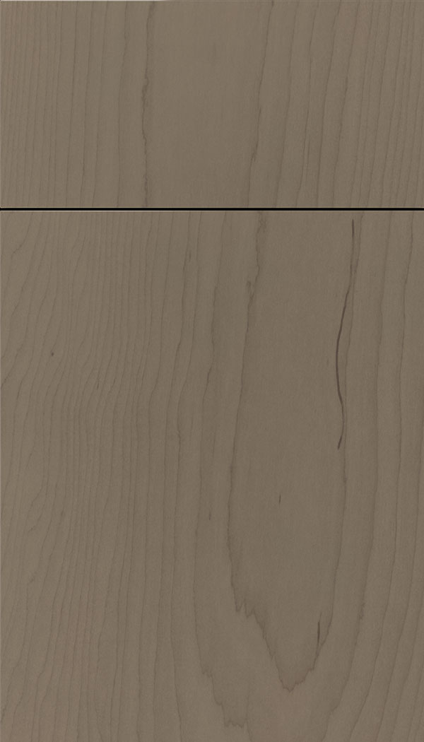 Lockhart Maple slab cabinet door in Winter