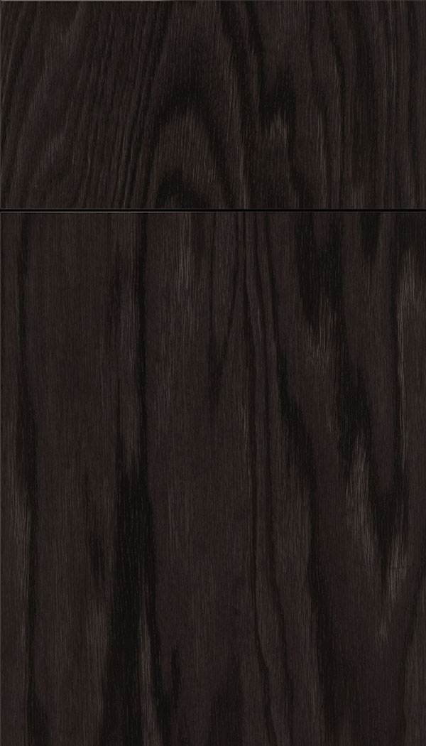 Lockhart Oak slab cabinet door in Charcoal