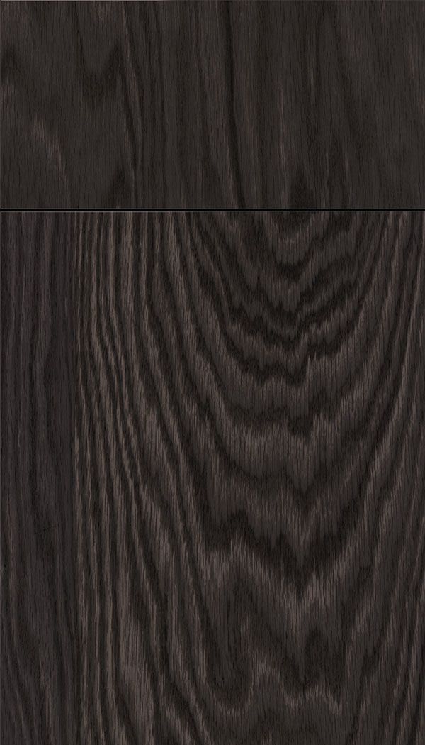 Lockhart Oak slab cabinet door in Espresso