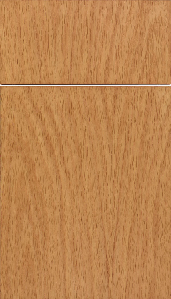 Lockhart Oak slab cabinet door in Spice