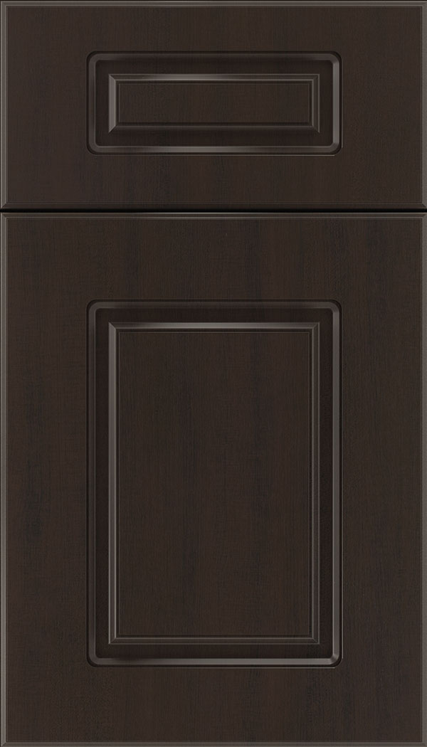 Manchester 5pc Thermofoil cabinet door in Woodgrain Sambuca