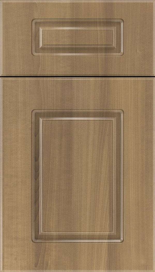 Manchester 5pc Thermofoil cabinet door in Woodgrain Satinwood