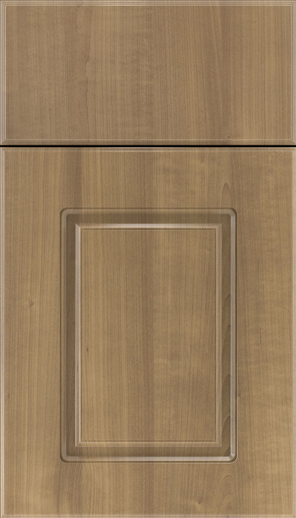 Manchester Thermofoil cabinet door in Woodgrain Satinwood