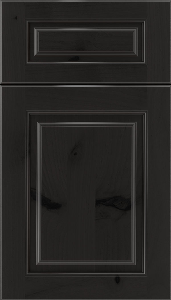 Marquis 5pc Alder raised panel cabinet door in Charcoal