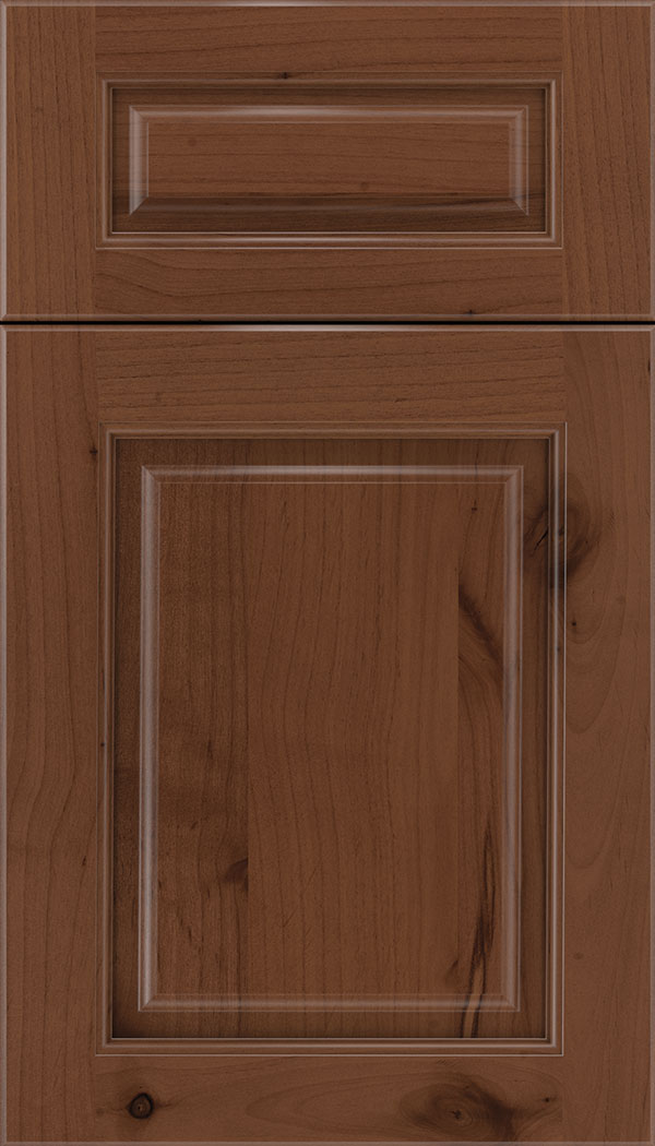 Marquis 5pc Alder raised panel cabinet door in Russet