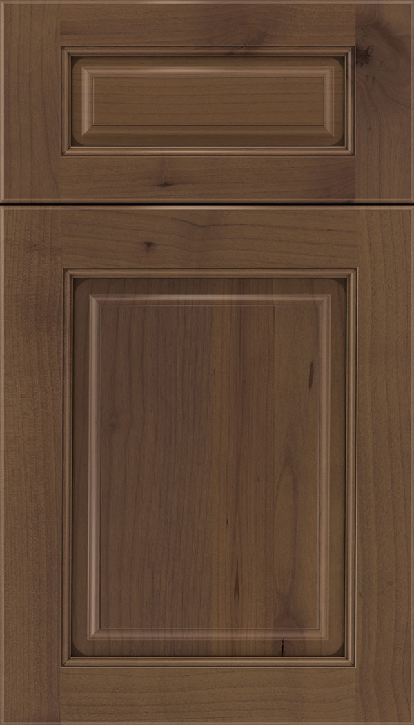 Marquis 5pc Alder raised panel cabinet door in Sienna with Mocha glaze