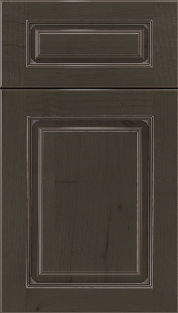 Marquis 5pc Alder raised panel cabinet door in Thunder with Pewter glaze