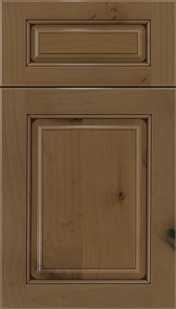 Marquis 5pc Alder raised panel cabinet door in Tuscan with Mocha glaze