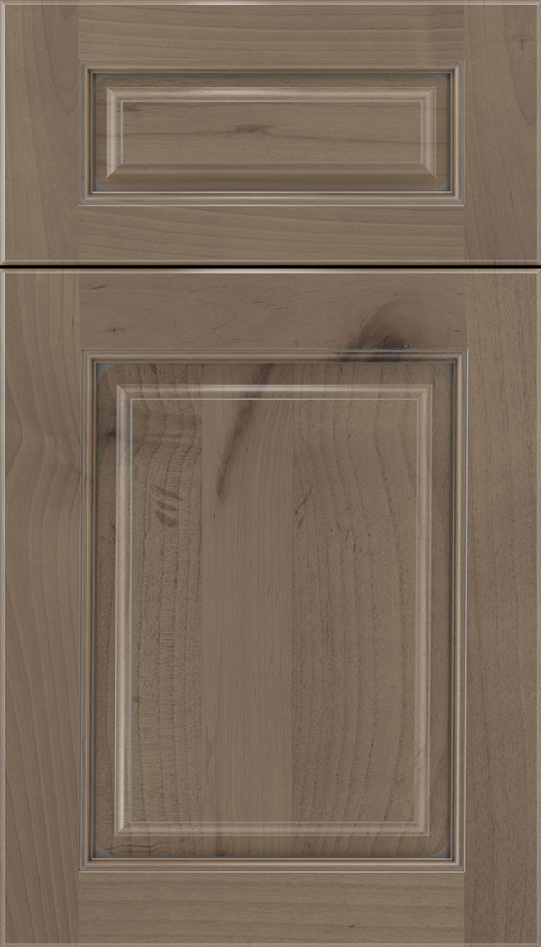 Marquis 5pc Alder raised panel cabinet door in Winter with Pewter glaze