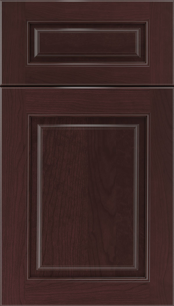Marquis 5pc Cherry raised panel cabinet door in Bordeaux