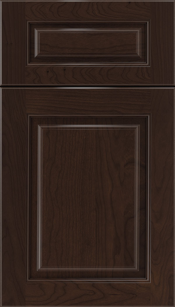 Marquis 5pc Cherry raised panel cabinet door in Cappuccino