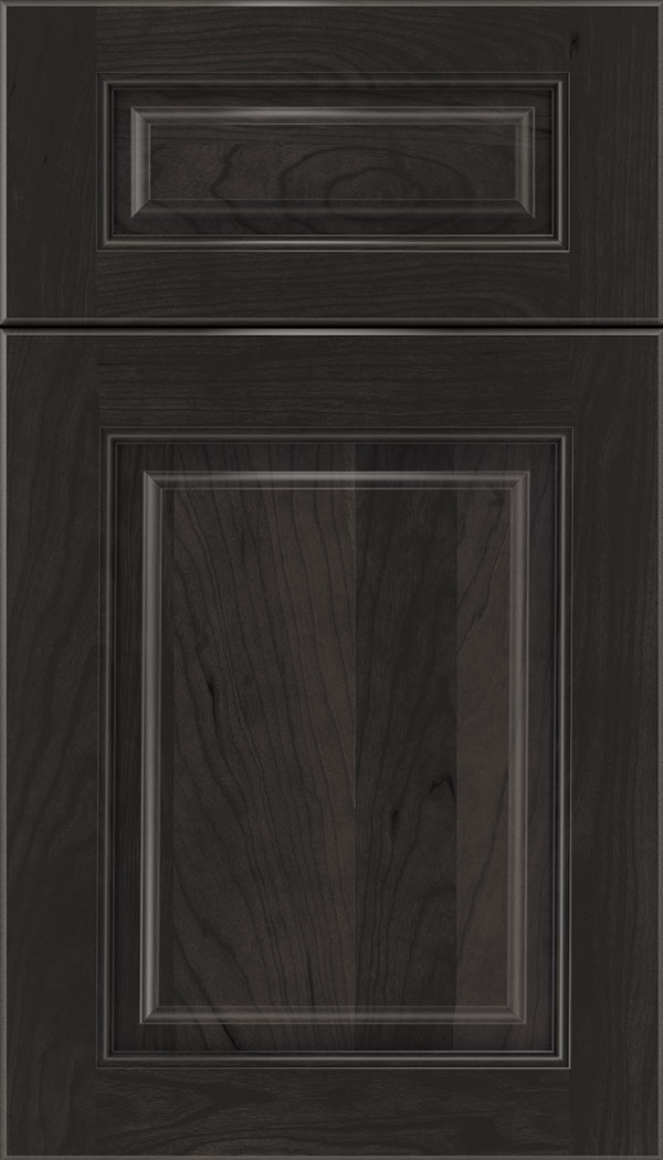 Marquis 5pc Cherry raised panel cabinet door in Charcoal
