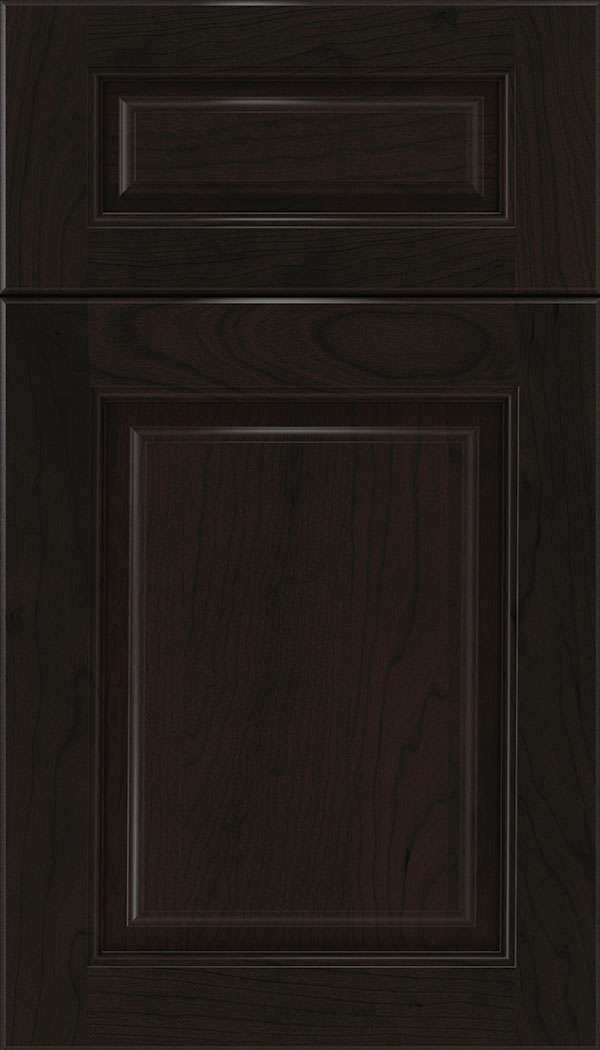 Marquis 5pc Cherry raised panel cabinet door in Espresso