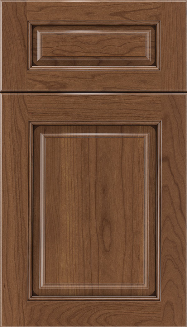 Marquis 5pc Cherry raised panel cabinet door in Nutmeg with Mocha glaze