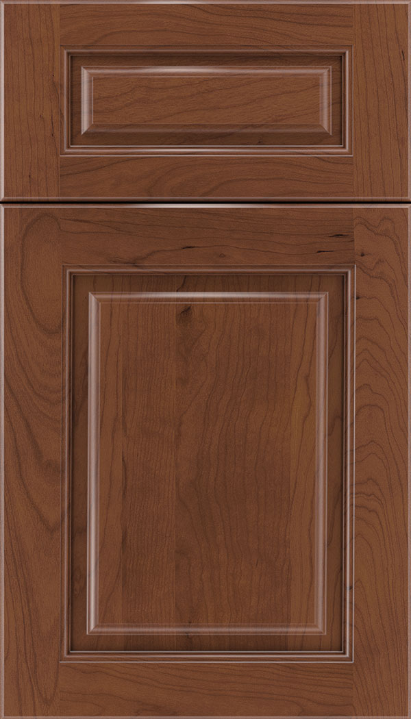 Marquis 5pc Cherry raised panel cabinet door in Russet