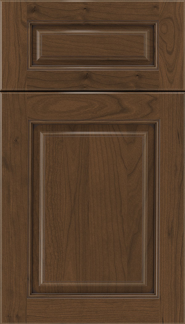 Marquis 5pc Cherry raised panel cabinet door in Sienna with Mocha glaze