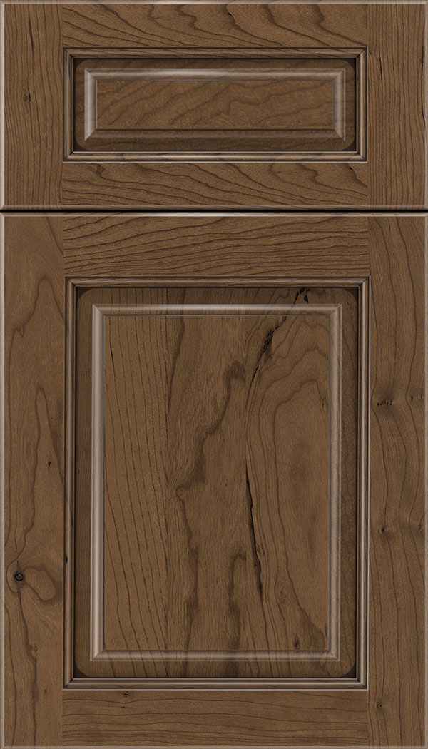 Marquis 5pc Cherry raised panel cabinet door in Toffee with Mocha glaze