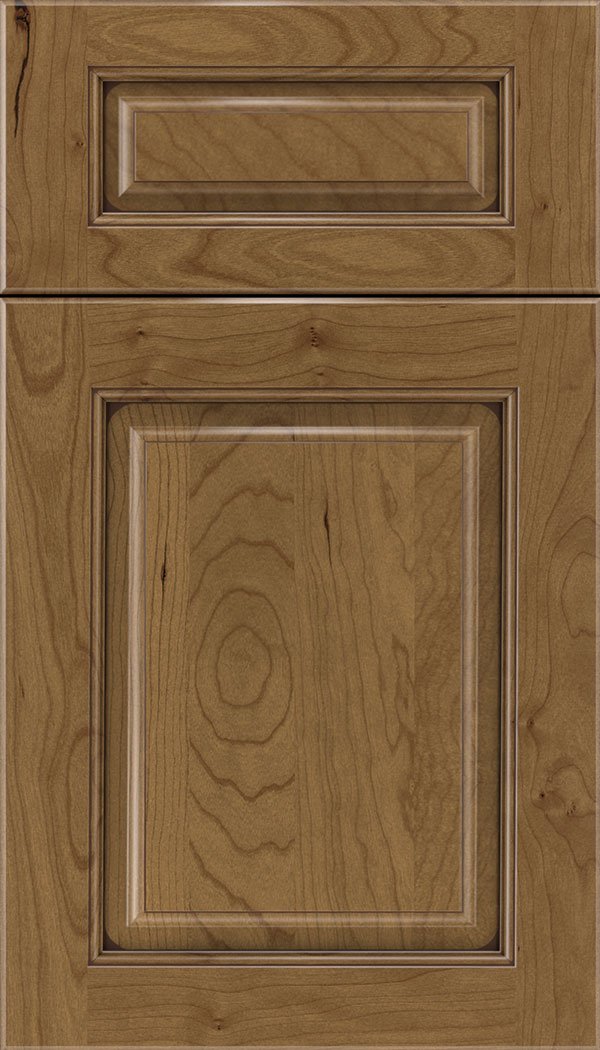 Marquis 5pc Cherry raised panel cabinet door in Tuscan with Mocha glaze