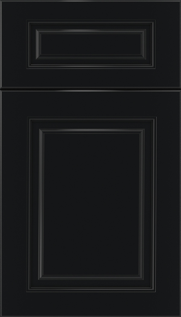 Marquis 5pc Maple raised panel cabinet door in Black