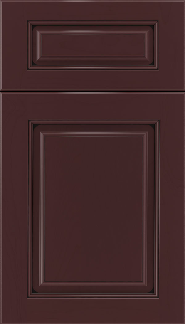 Marquis 5pc Maple raised panel cabinet door in Bordeaux with Black glaze