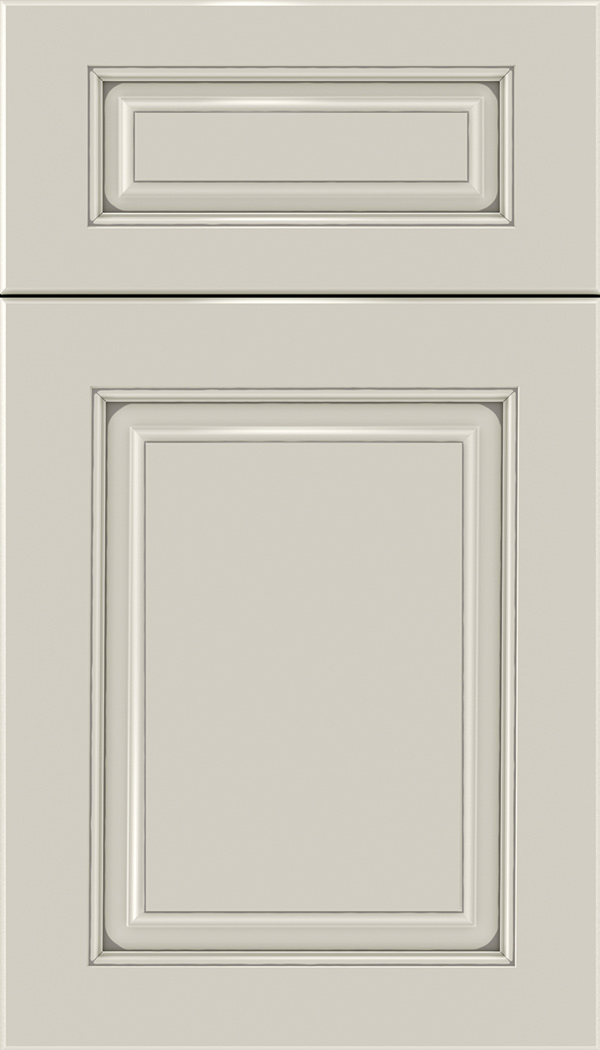 Marquis 5pc Maple raised panel cabinet door in Cirrus with Pewter glaze