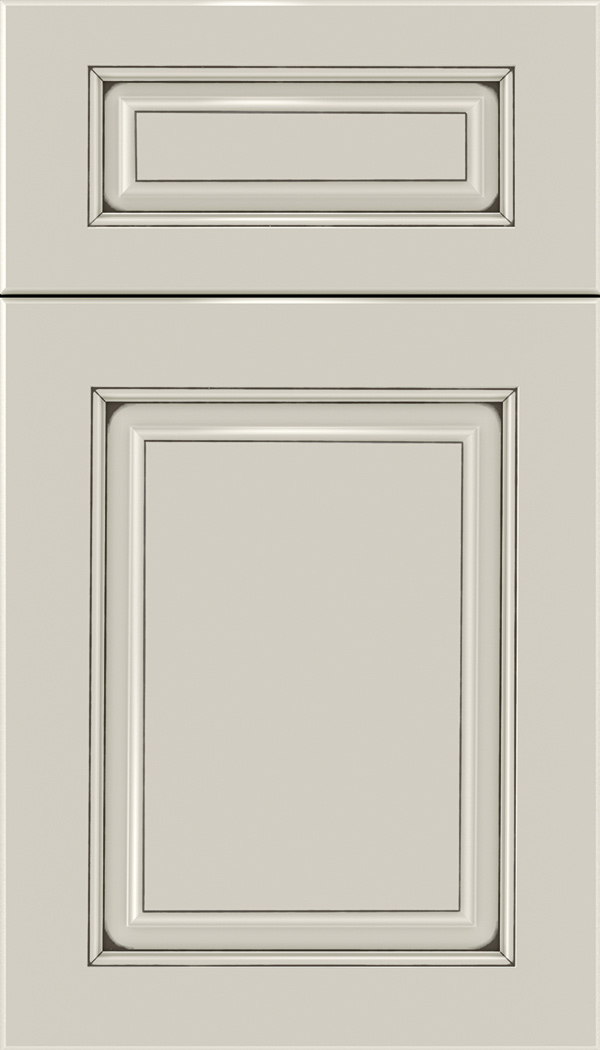 Marquis 5pc Maple raised panel cabinet door in Cirrus with Smoke glaze