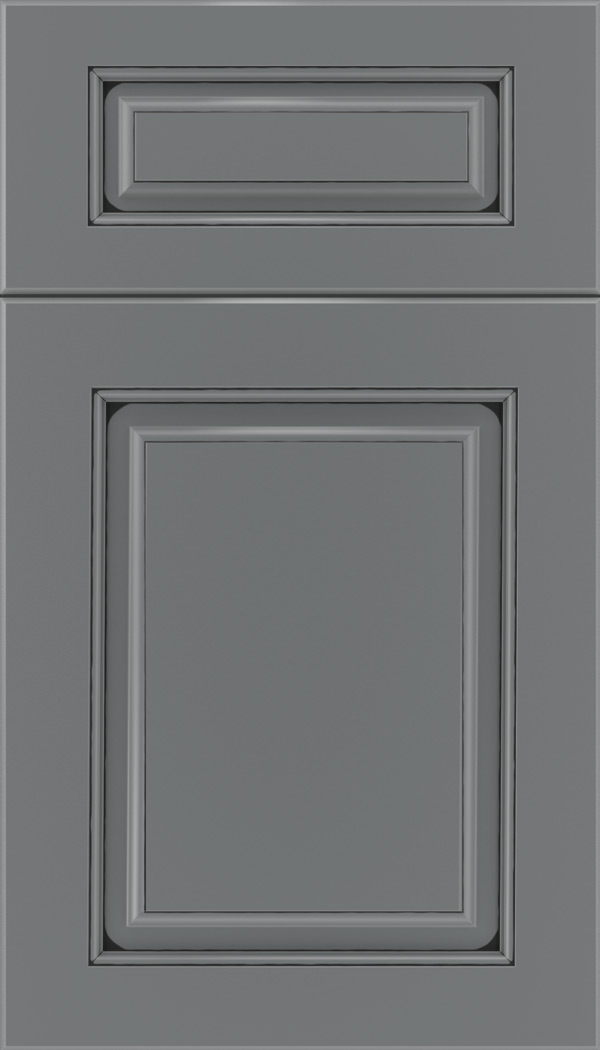 Marquis 5pc Maple raised panel cabinet door in Cloudburst with Black glaze