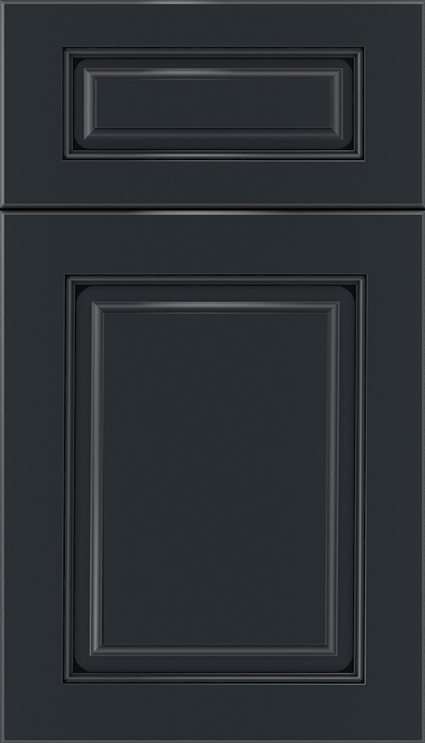 Marquis 5pc Maple raised panel cabinet door in Gunmetal Blue with Black glaze