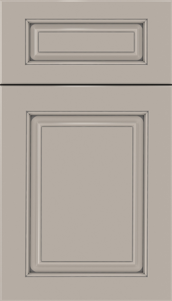 Marquis 5pc Maple raised panel cabinet door in Nimbus with Pewter glaze