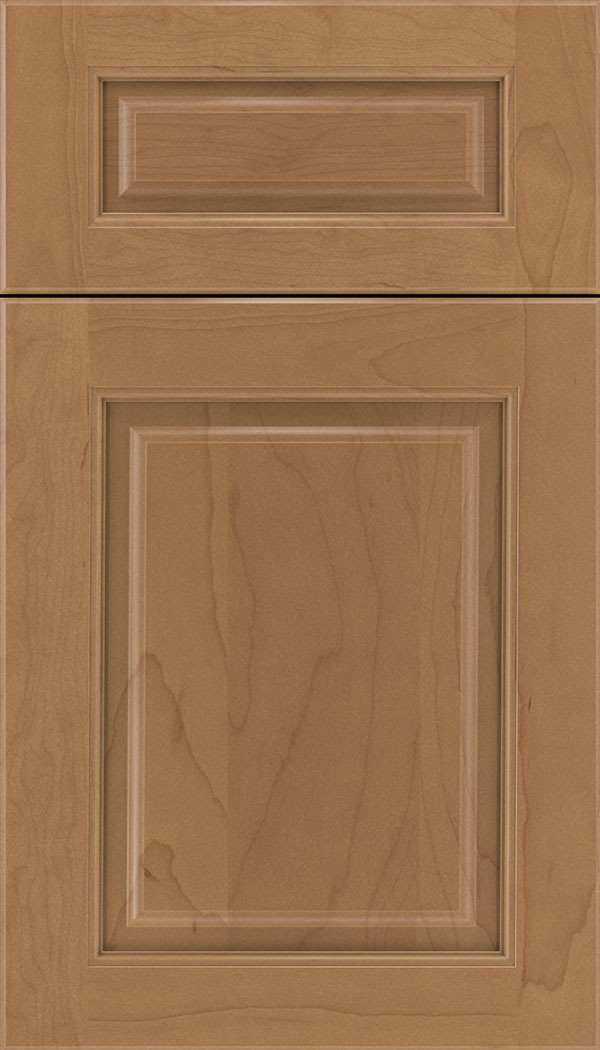 Marquis 5pc Maple raised panel cabinet door in Nutmeg