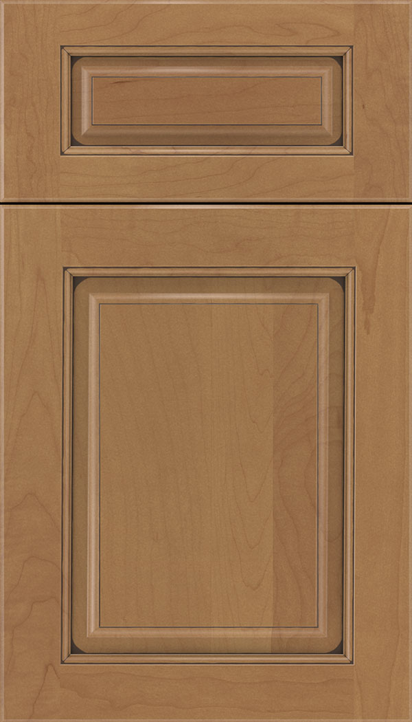 Marquis 5pc Maple raised panel cabinet door in Nutmeg with Mocha glaze