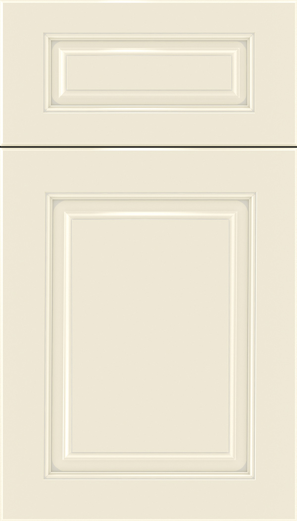 Marquis 5pc Maple raised panel cabinet door in Seashell with Pewter glaze