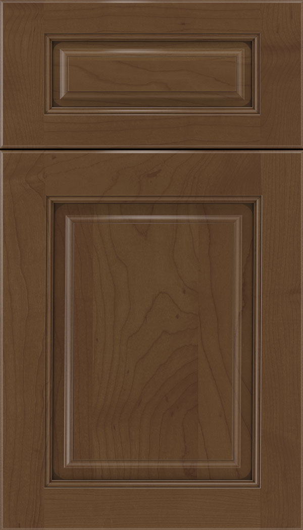 Marquis 5pc Maple raised panel cabinet door in Sienna with Mocha glaze
