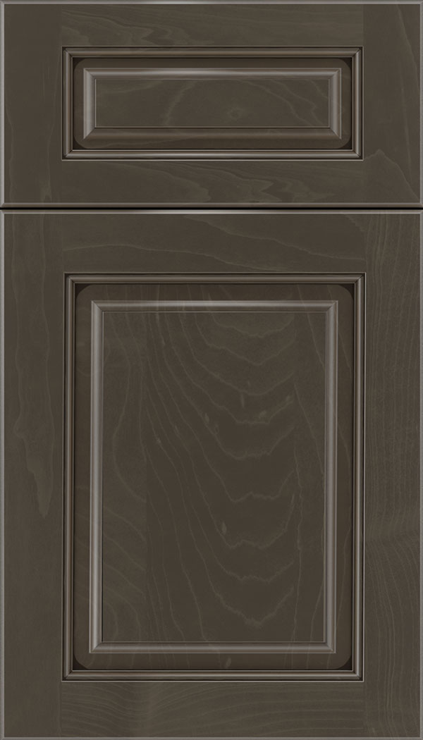 Marquis 5pc Maple raised panel cabinet door in Thunder with Black glaze