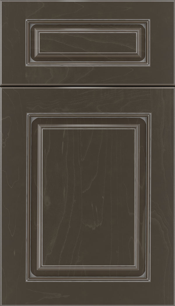 Marquis 5pc Maple raised panel cabinet door in Thunder with Pewter glaze