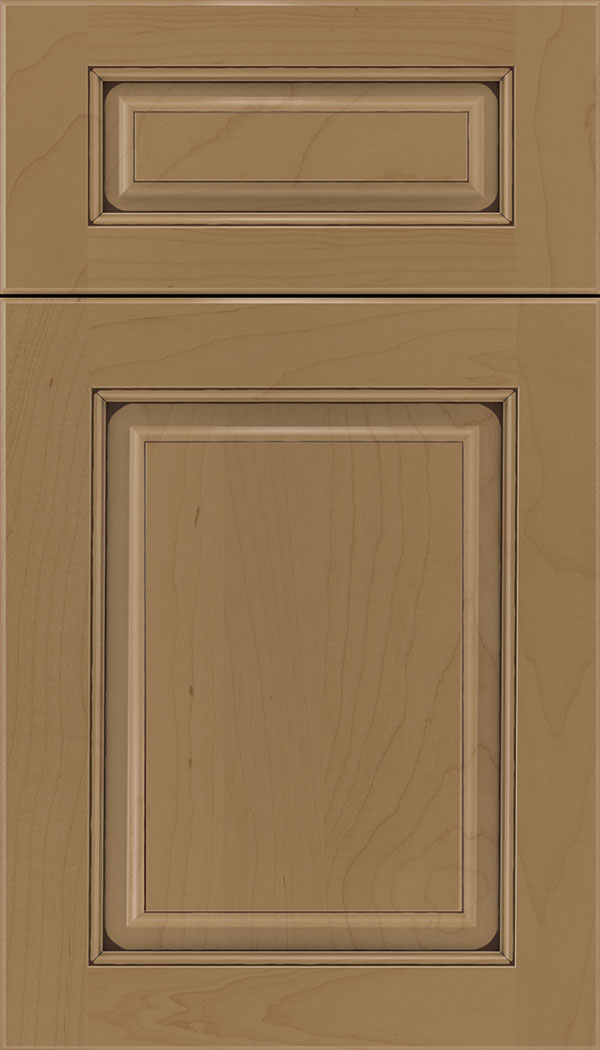 Marquis 5pc Maple raised panel cabinet door in Tuscan with Mocha glaze