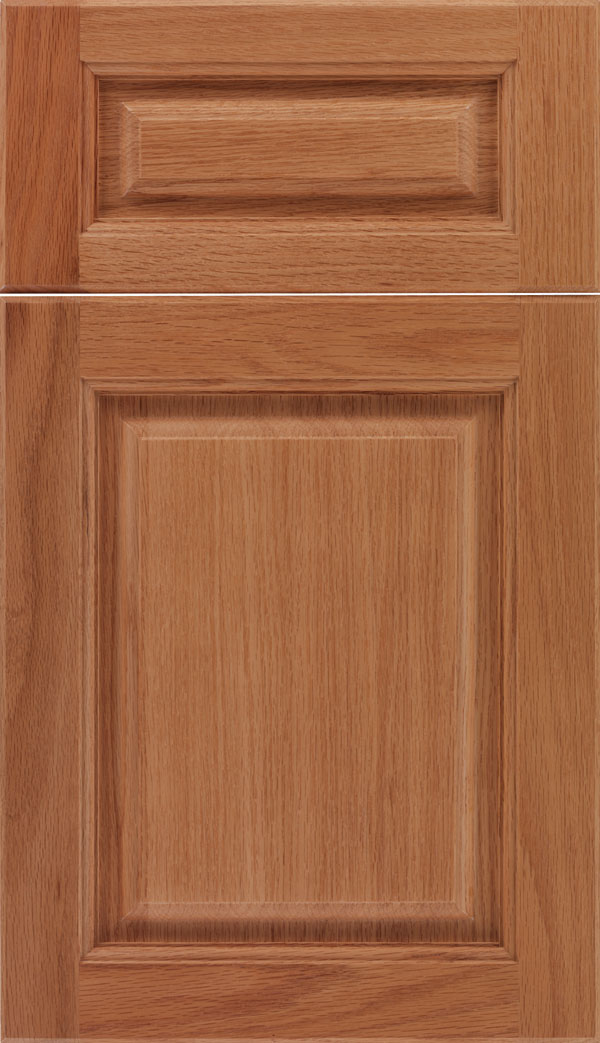 Marquis 5pc Oak raised panel cabinet door in Spice