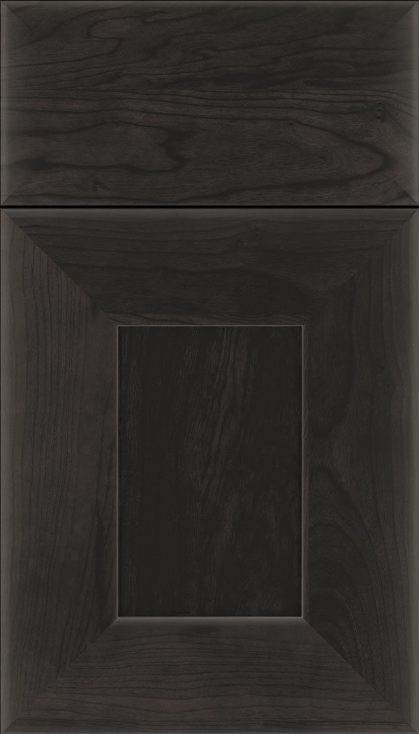 Napoli Cherry flat panel cabinet door in Charcoal